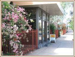 Front Entrance to Alice Springs Desert Rose Inn